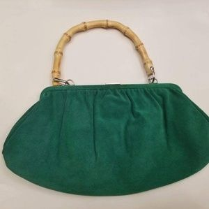 Emerald Suede Bag
